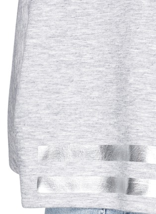 Detail View - Click To Enlarge - COCURATA - Foil stripe bonded jersey sweatshirt