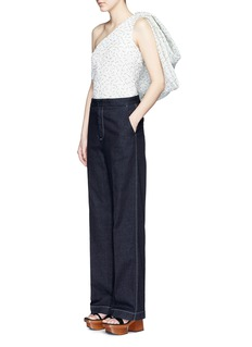 ROSIE ASSOULIN'Hustle & Bustle' oversize bow sleeveless one shoulder top