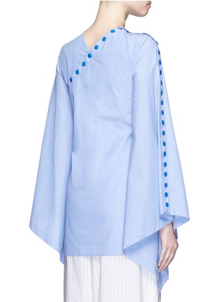 Back View - Click To Enlarge - Rosie Assoulin - 'She's Come Undone' snap button cotton tunic