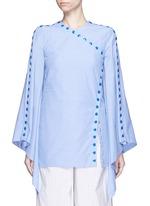 'She's Come Undone' snap button cotton tunic