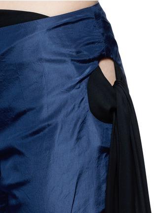 Rosie Assoulin-Bikini side tie silk taffeta flare pants