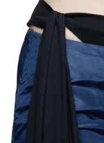 Bikini side tie silk taffeta flare pants