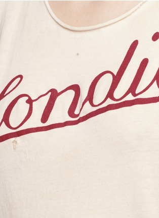 Detail View - Click To Enlarge - Madeworn - 'Blondie T' cotton tank top