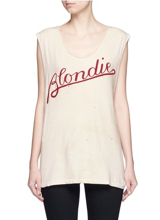 Main View - Click To Enlarge - Madeworn - 'Blondie T' cotton tank top