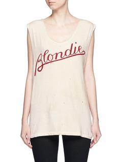 Madeworn'Blondie T' cotton tank top