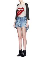 'Rolling Stones' cotton raglan T-shirt