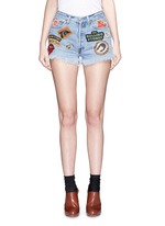 'Rolling Stones' one of a kind cut-off shorts