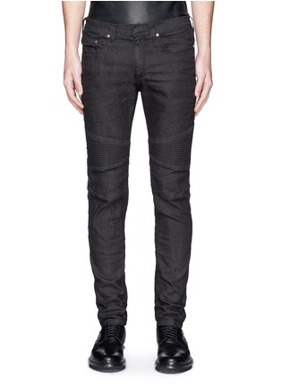 Detail View - Click To Enlarge - Neil Barrett - Biker raw denim skinny jeans