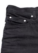 Biker raw denim skinny jeans