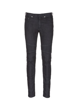 Main View - Click To Enlarge - Neil Barrett - Biker raw denim skinny jeans