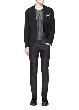 Figure View - Click To Enlarge - Neil Barrett - Biker raw denim skinny jeans