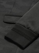 Bomber sleeve camouflage jacquard blazer