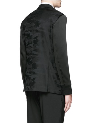 Back View - Click To Enlarge - Neil Barrett - Bomber sleeve camouflage jacquard blazer