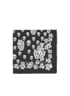 ALEXANDER MCQUEENSkull and ivy print modal-silk scarf