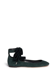 ALEXANDER MCQUEENVelvet ribbon patent leather ballerina flats