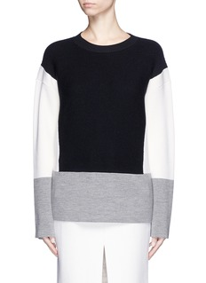 CHLOÉColourblock wool-cotton sweater