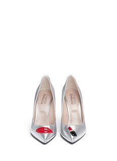 CHIARA FERRAGNI 'Make Up' double appliqué metallic leather pumps