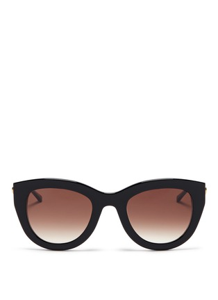 Main View - Click To Enlarge - Thierry Lasry - 'Cupidity' metal temple pearlescent interior acetate cat eye sunglasses