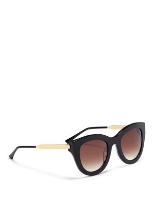 Figure View - Click To Enlarge - Thierry Lasry - 'Cupidity' metal temple pearlescent interior acetate cat eye sunglasses