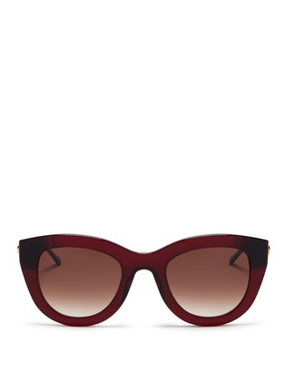 Main View - Click To Enlarge - Thierry Lasry - 'Cupidity' metal temple contrast corner acetate cat eye sunglasses