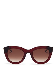 THIERRY LASRY 'Cupidity' metal temple contrast corner acetate cat eye sunglasses
