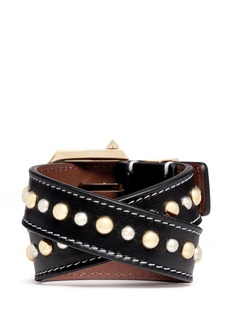 GIVENCHY Stud calf leather bracelet
