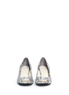 COLE HAAN'Air Tali' snake print leather wedge pumps