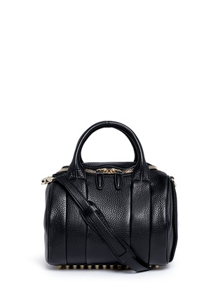 Main View - Click To Enlarge - Alexander Wang  - 'Rockie' pebbled leather duffle bag
