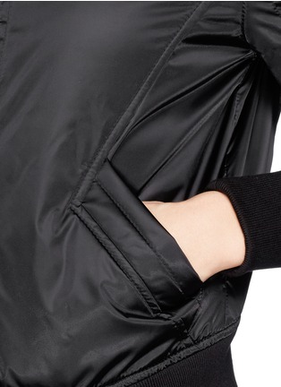 Detail View - Click To Enlarge - Helmut Lang - Pearlised cropped bomber jacket