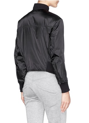 Back View - Click To Enlarge - Helmut Lang - Pearlised cropped bomber jacket