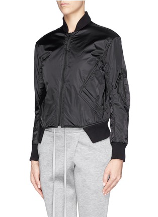 Front View - Click To Enlarge - Helmut Lang - Pearlised cropped bomber jacket