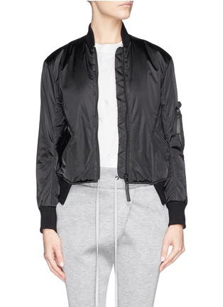 Main View - Click To Enlarge - Helmut Lang - Pearlised cropped bomber jacket