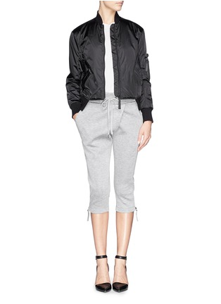 Figure View - Click To Enlarge - Helmut Lang - Pearlised cropped bomber jacket