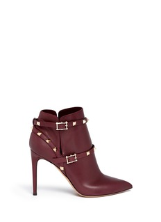 VALENTINO 'Rockstud' ankle harness leather boots
