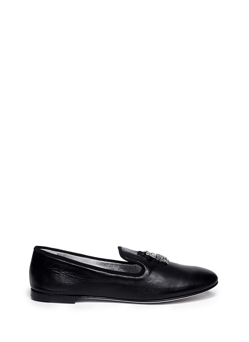 Fish tassel leather smoking shoes