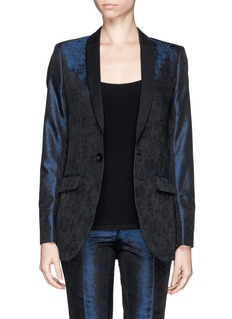 EACH X OTHERx Robert Montgomery leather lapel brocade tuxedo jacket