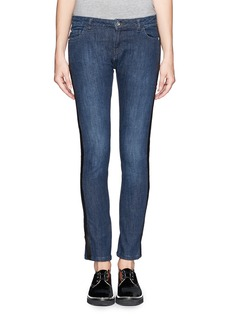 EACH X OTHER Leather trim washed jeans