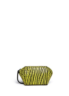 ALEXANDER WANG  'Chastity' small brush leather pouch