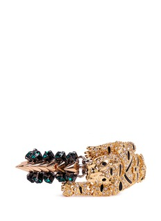 VENNACrystal pavé tiger spike bracelet