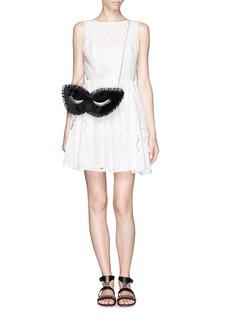 CHARLOTTE OLYMPIA'Blink' mask velvet clutch