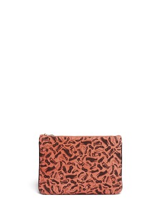 CHARLOTTE OLYMPIA'Dress Up' print suede pouch