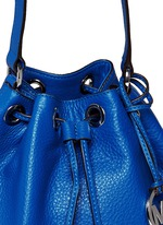 'Jules' leather crossbody bucket bag