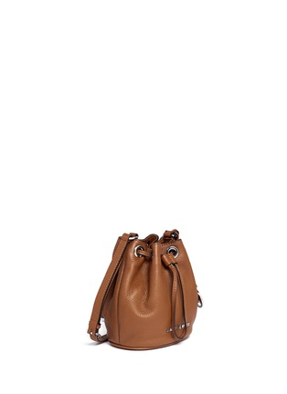 Front View - Click To Enlarge - Michael Kors - 'Jules' leather crossbody bucket bag