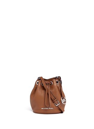 Main View - Click To Enlarge - Michael Kors - 'Jules' leather crossbody bucket bag
