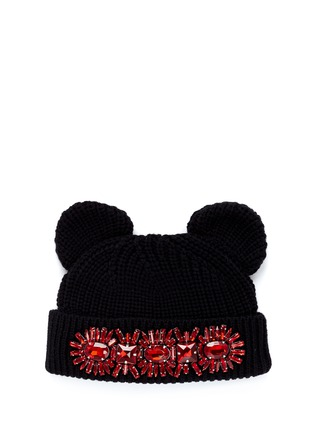 Main View - Click To Enlarge - MARKUS LUPFER - Jewel cat ear beanie