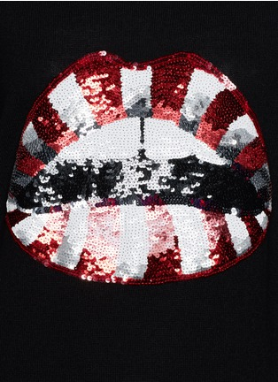 Detail View - Click To Enlarge - MARKUS LUPFER - Natalie candy stripe sequin 'Lara Lip' sweater