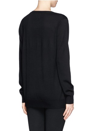 Back View - Click To Enlarge - MARKUS LUPFER - Natalie candy stripe sequin 'Lara Lip' sweater