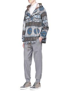 kolorTribal print waist cotton jogging pants