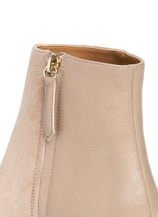 Detail View - Click To Enlarge - Aquazzura - 'Brooklyn' suede and leather ankle boots