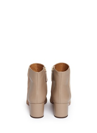 Back View - Click To Enlarge - Aquazzura - 'Brooklyn' suede and leather ankle boots